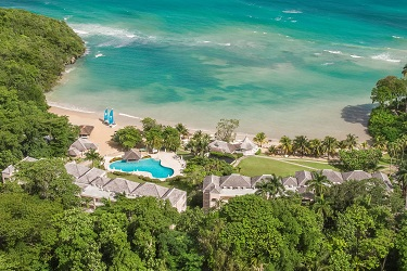Couples Sans Souci Aerial Beach Shot