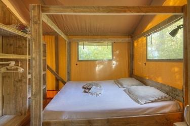 Montalivet safaritent slaapkamer
