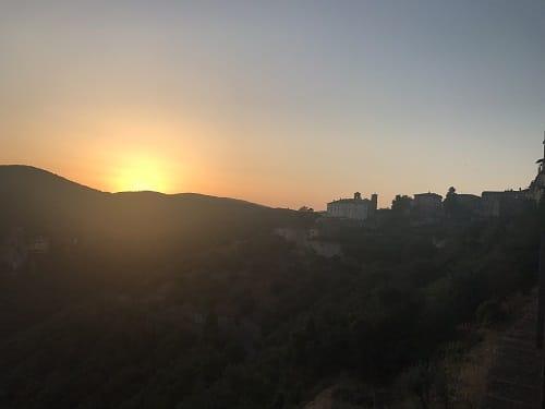 Zonsondergang Ameila